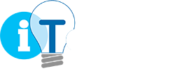 iTology logo - Oklahoma IT company in white